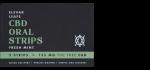 Elevar Hemp CBD Fresh Mint CBD Oral Strips Single Strip Menu