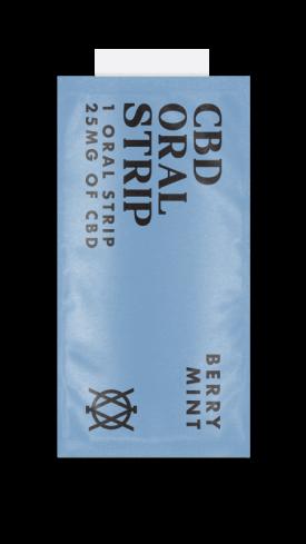 Elevar Hemp CBD Berry Mint CBD Oral Strips Single Strip
