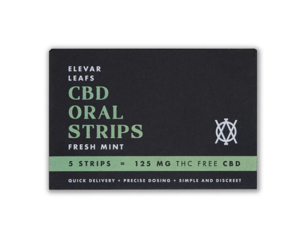 Elevar Hemp CBD Fresh Mint CBD Oral Strips Single Pack Front